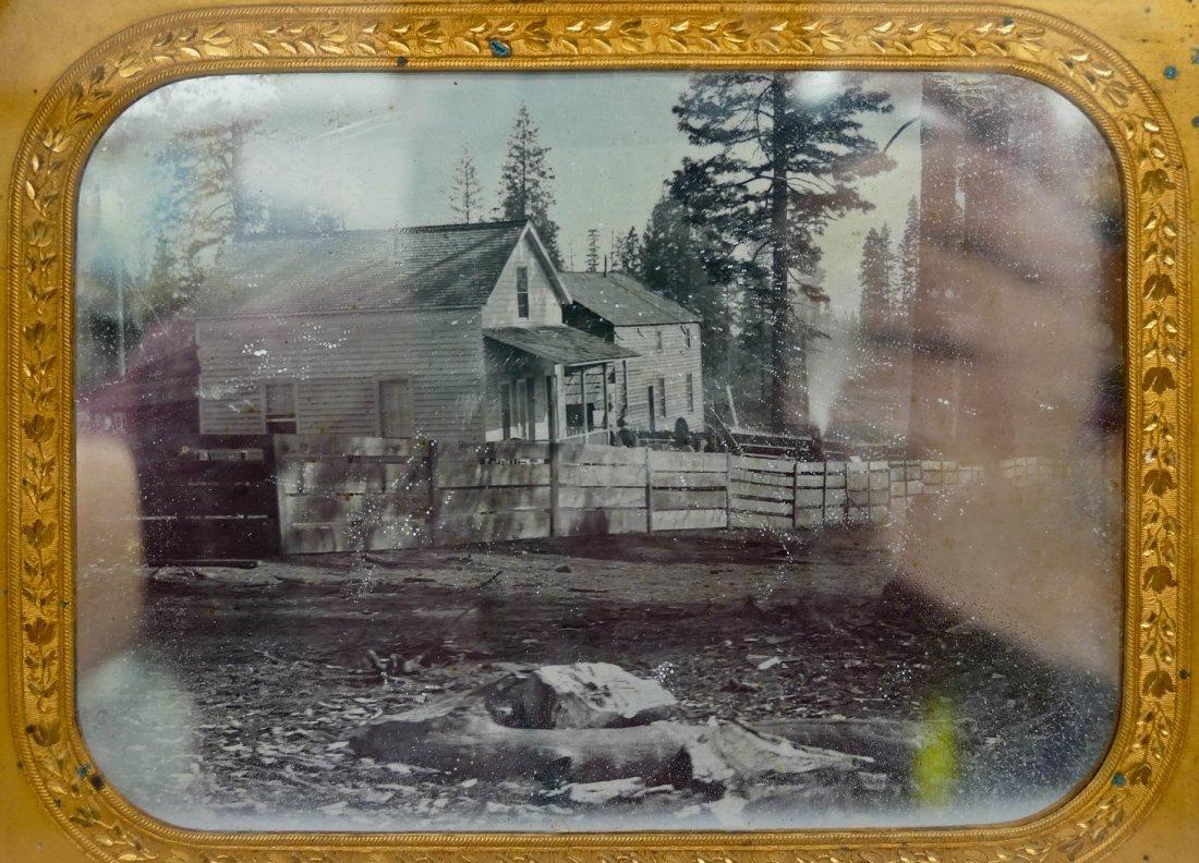 2pc Antique Homestead Half Plate Daguerreotypes. Two