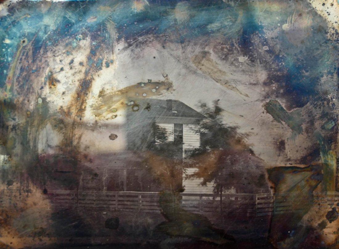 2pc Antique Homestead Half Plate Daguerreotypes. Two - 2