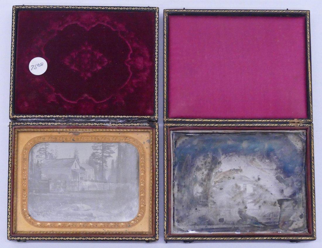 2pc Antique Homestead Half Plate Daguerreotypes. Two - 4