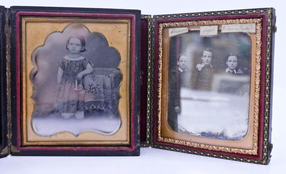 2pc Antique Children Sixth Plate Daguerreotypes.
