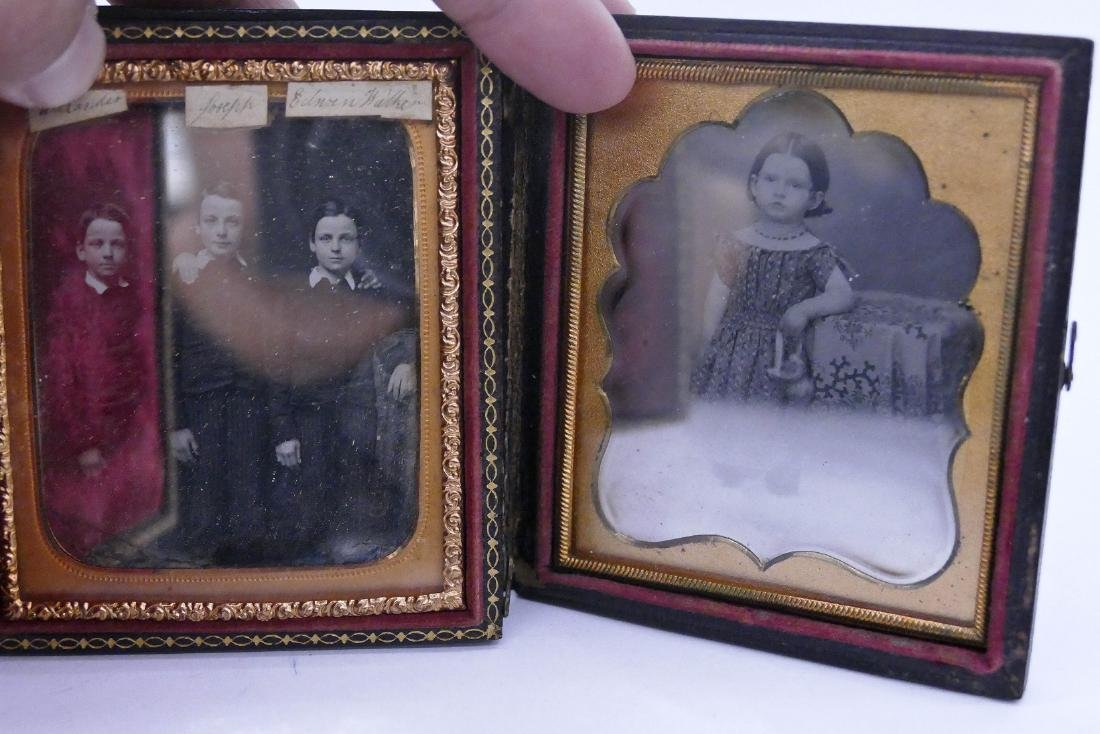 2pc Antique Children Sixth Plate Daguerreotypes. - 3