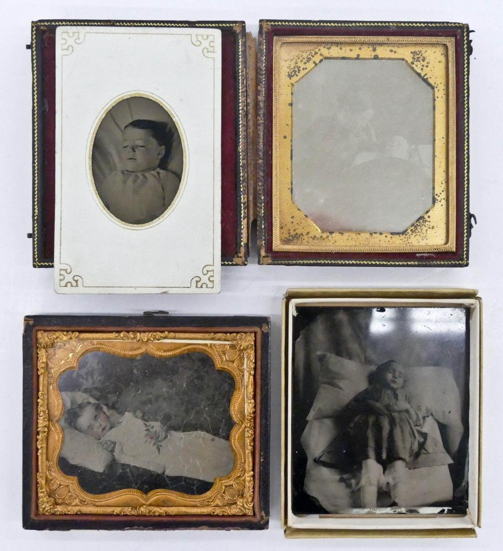 4pc Antique Child Post Mortem Photographs. Includes a