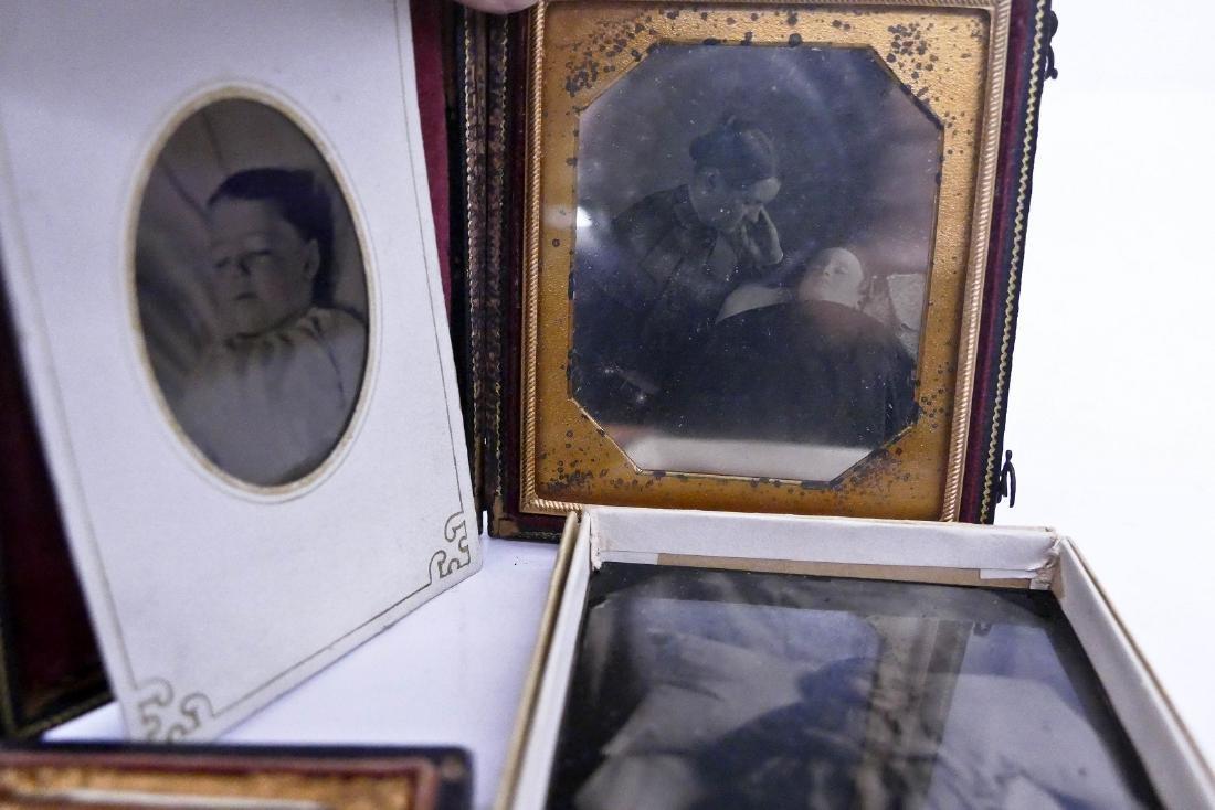 4pc Antique Child Post Mortem Photographs. Includes a - 2