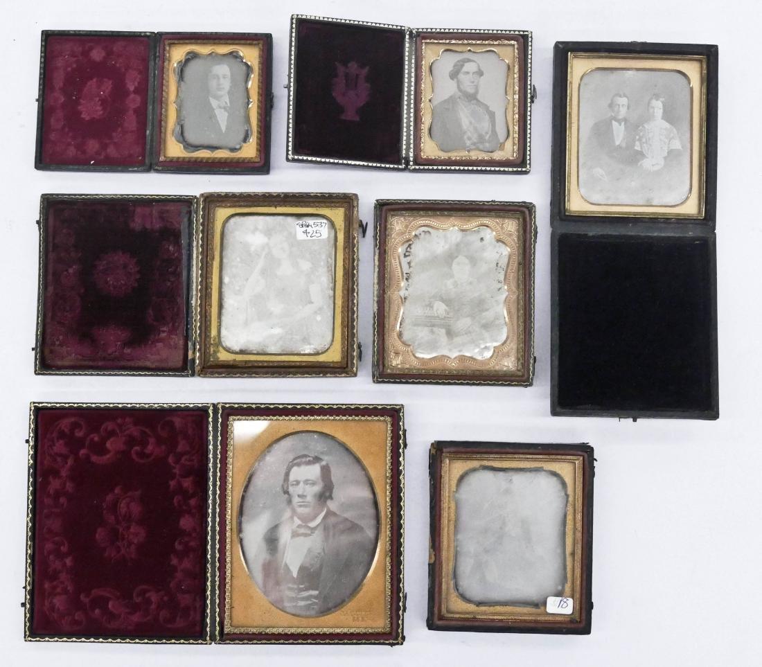 7pc Daguerreotype Portrait Photographs. Includes a
