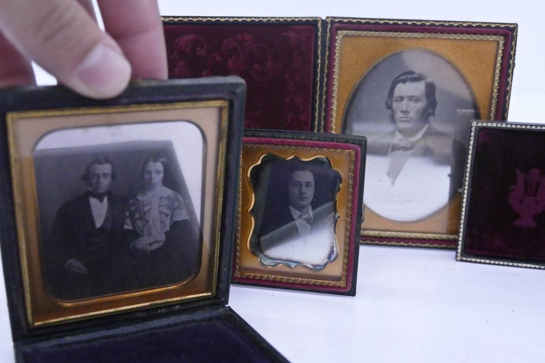 7pc Daguerreotype Portrait Photographs. Includes a - 2