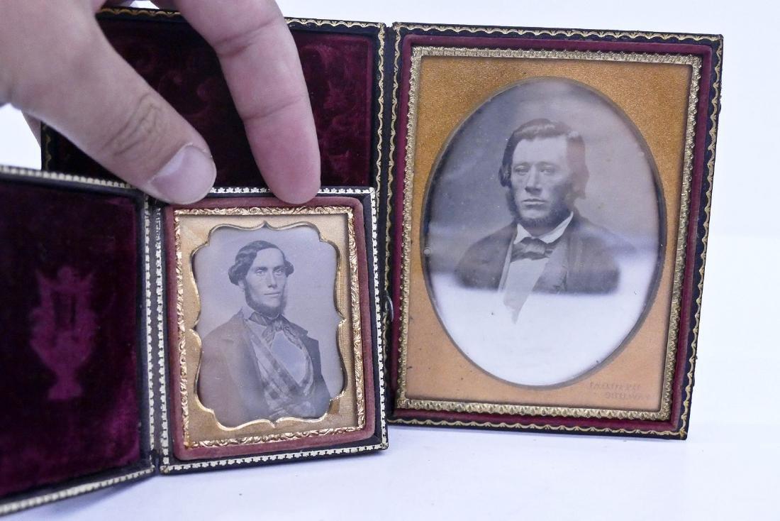 7pc Daguerreotype Portrait Photographs. Includes a - 3