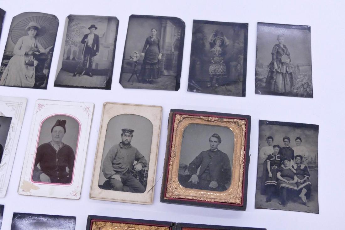 28pc Interesting Subject Matter Tintype Photographs. - 3