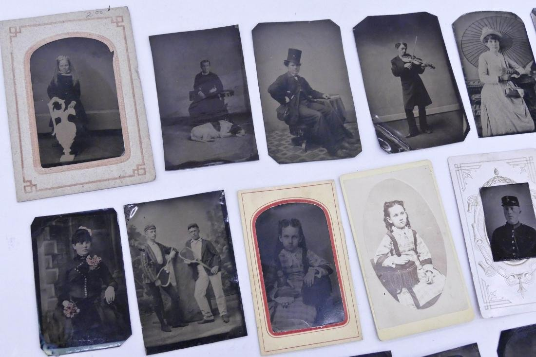28pc Interesting Subject Matter Tintype Photographs. - 4