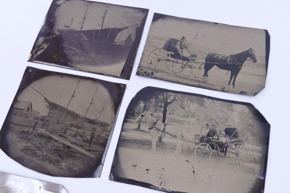 7pc Antique Large Tintype Photographs. Sizes range from - 2