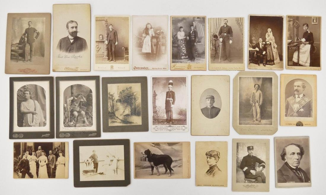21pc Interesting Subject Matter Cabinet Cards. Includes