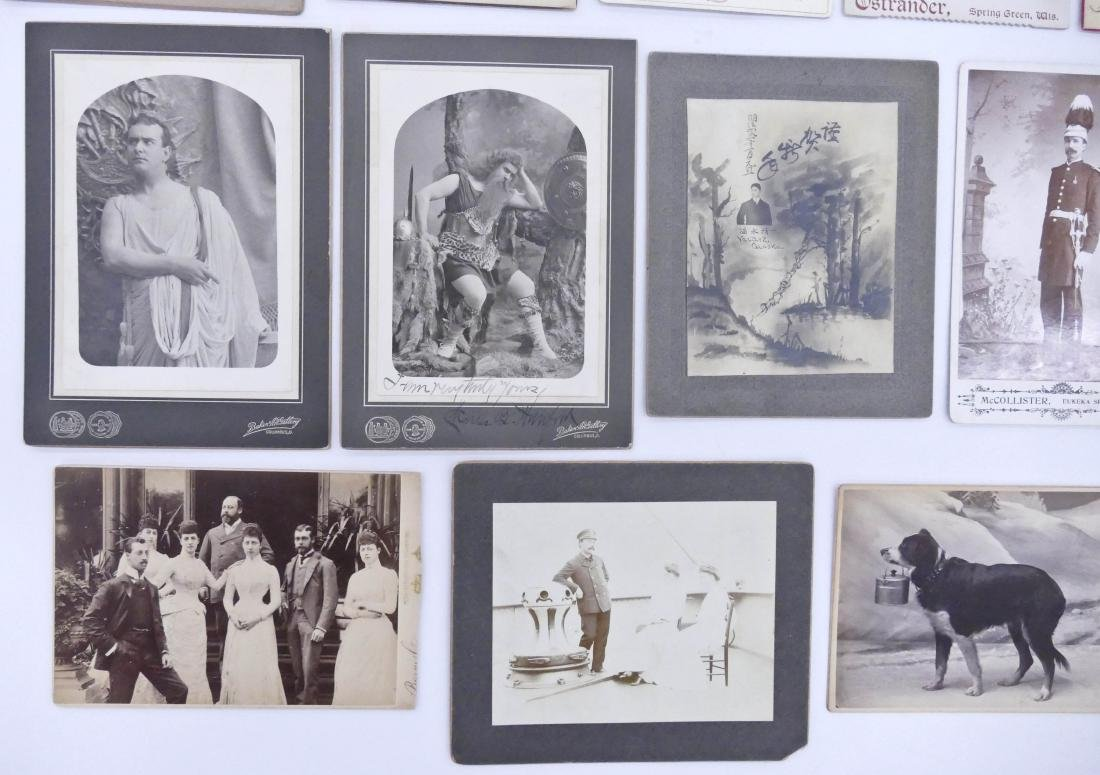 21pc Interesting Subject Matter Cabinet Cards. Includes - 2