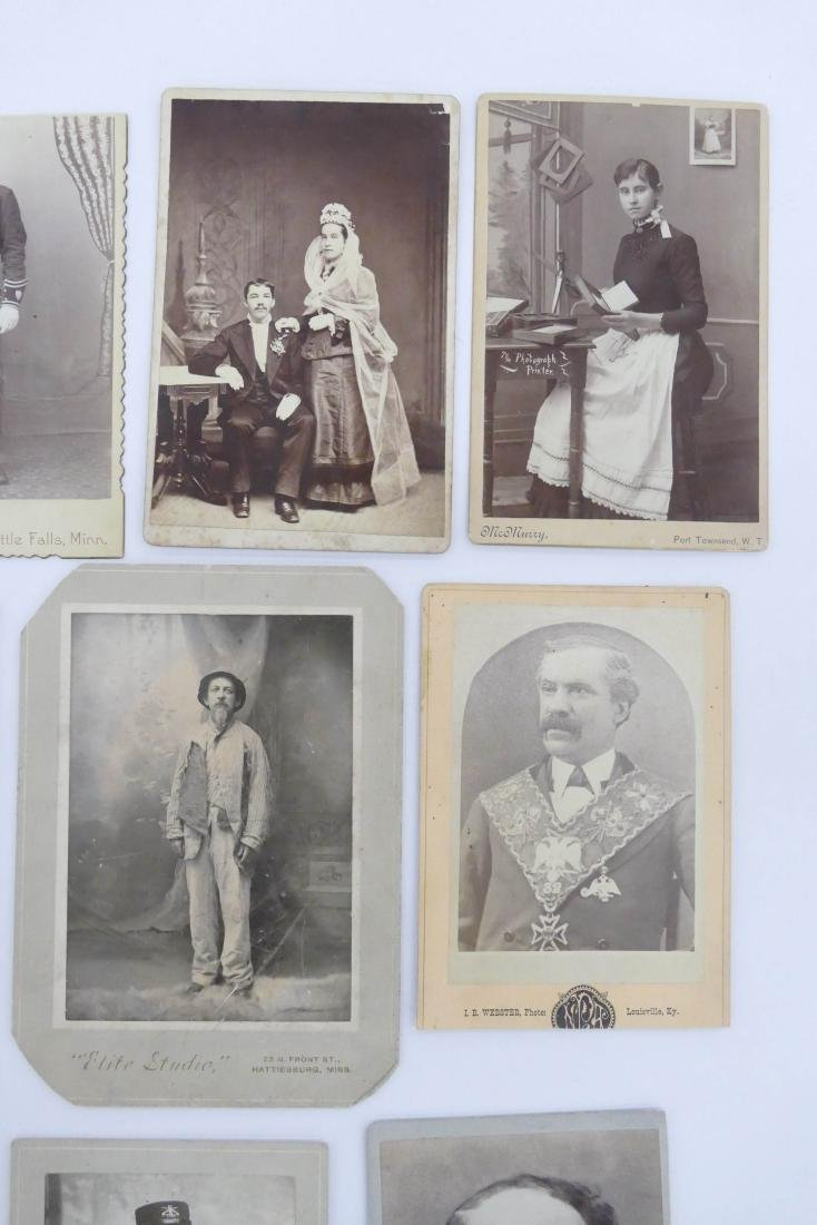 21pc Interesting Subject Matter Cabinet Cards. Includes - 4