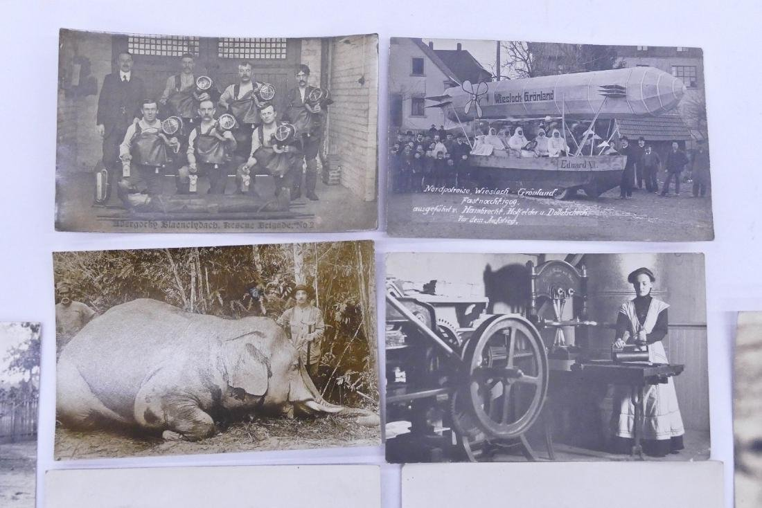9pc Interesting Subject Matter Real Photo Postcards. - 2