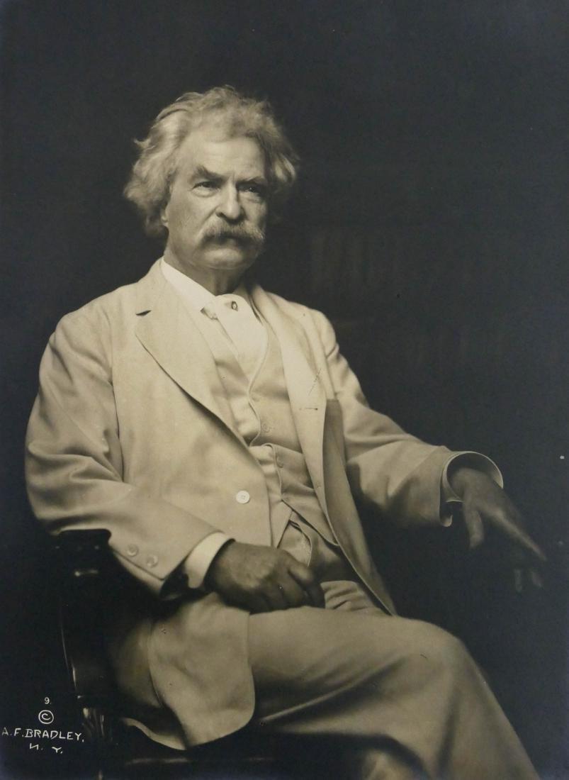 Mark Twain Portrait Photograph by A.F. Bradley