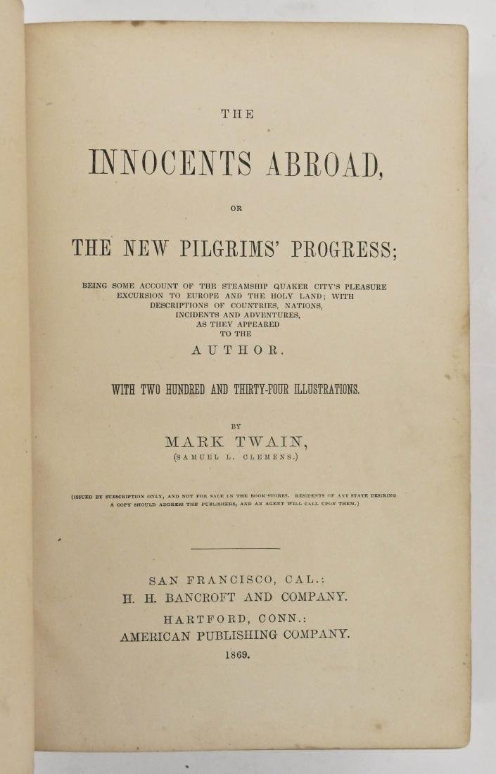 Mark Twain 1869 ''The Innocents Abroad'' First Edition - 3