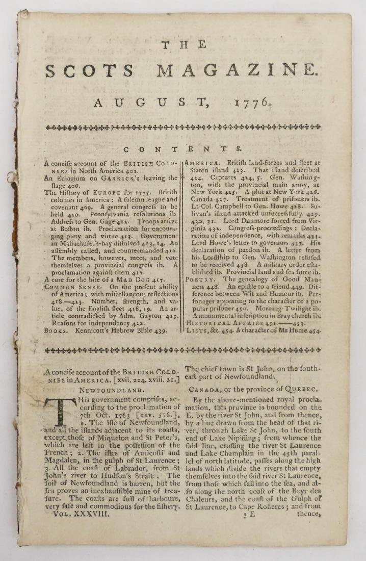 The Scots Magazine 1776 Declaration of Independence.