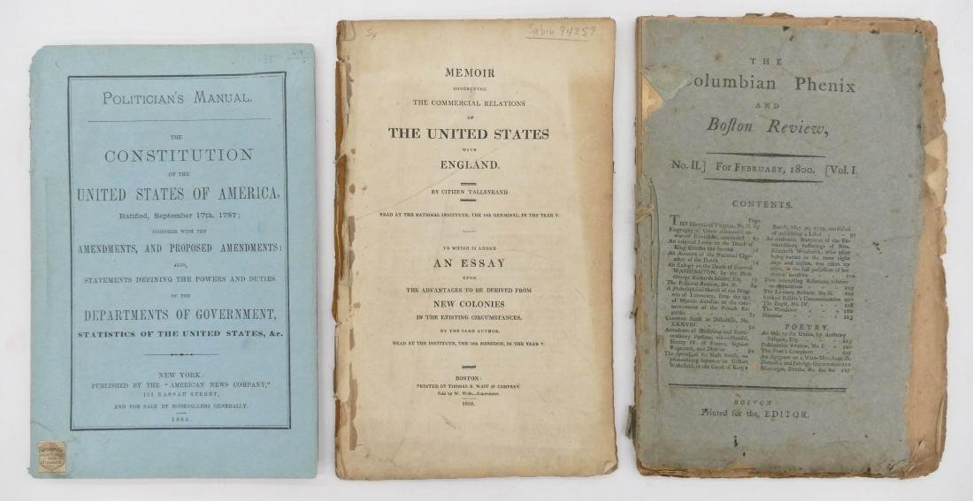 5pc Early American Booklets & Almanacks. Includes - 2
