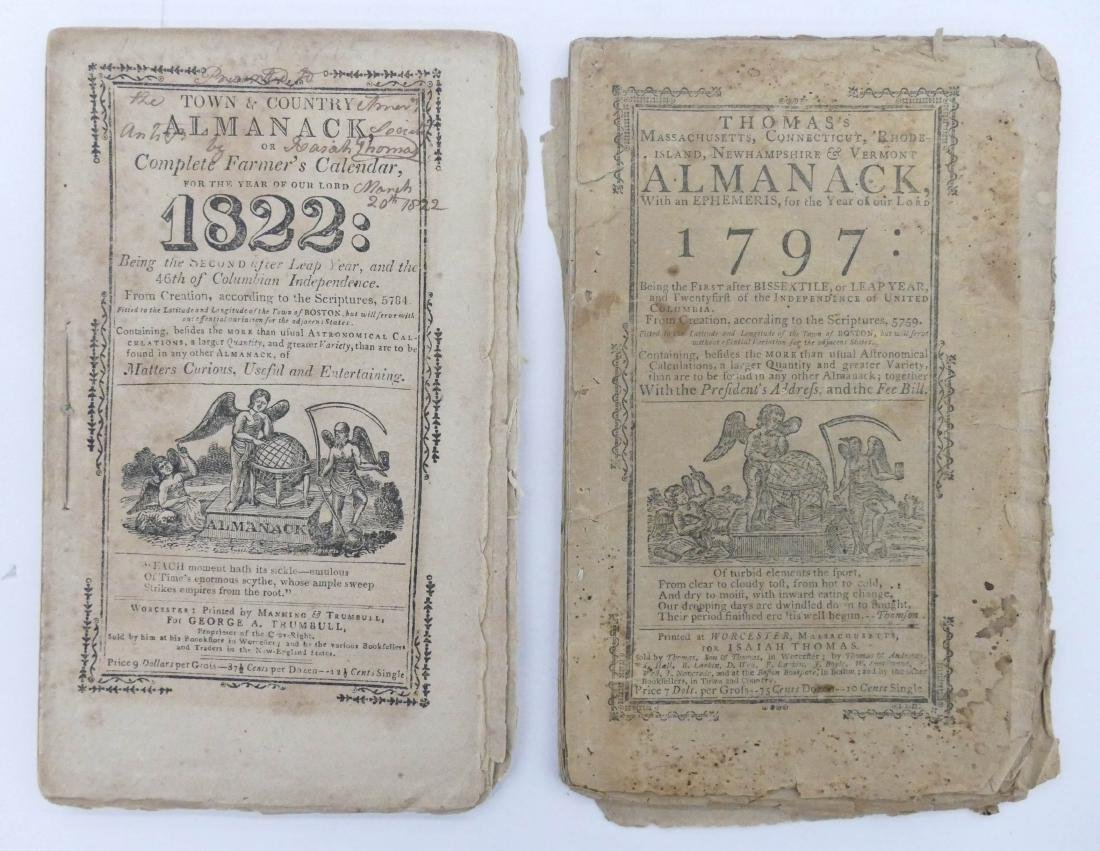 5pc Early American Booklets & Almanacks. Includes - 3