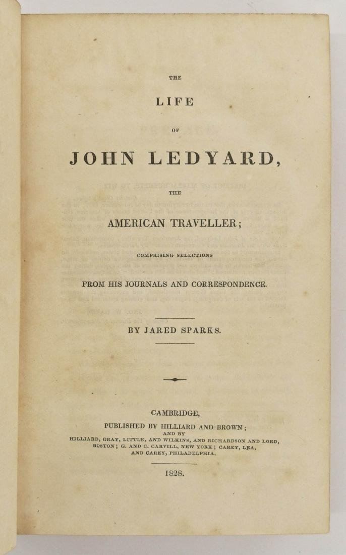 Jared Sparks 1828 ''The Life of John Ledyard, The - 3