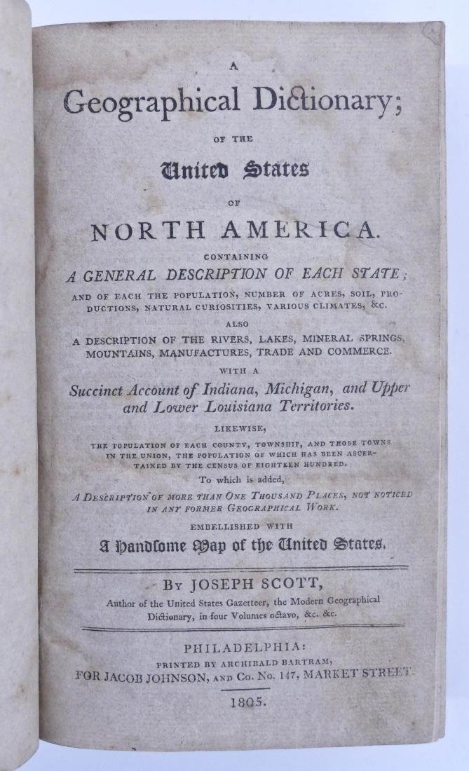 Joseph Scott 1805 ''A Geographical Dictionary of the