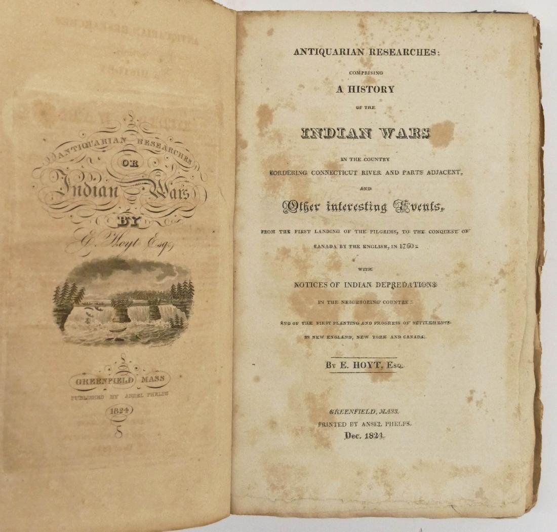 Epaphras Hoyt 1824 ''A History of the Indian Wars