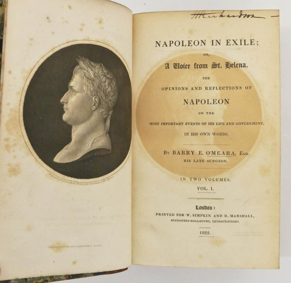 Barry O'Meara 1822 ''Napoleon in Exile'' 2 Volume Book - 3