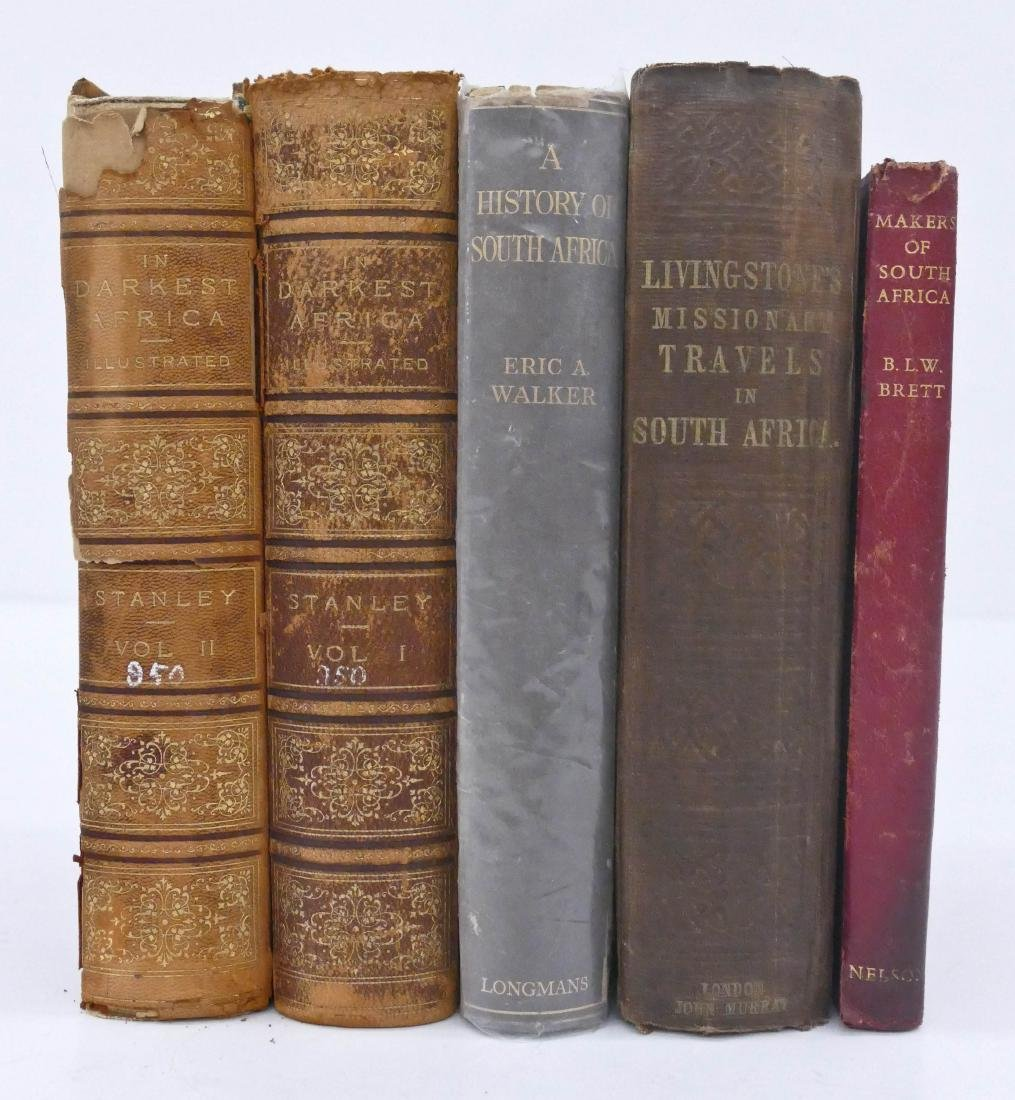 5pc South Africa History Books. Includes 2 Volume ''In