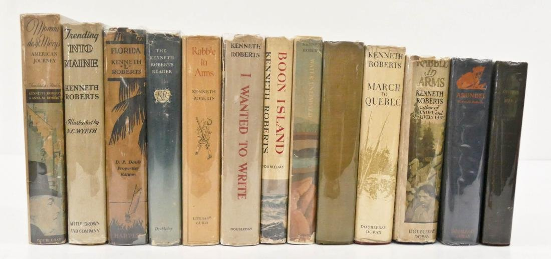 20pc Kenneth Roberts First Edition Books. Includes