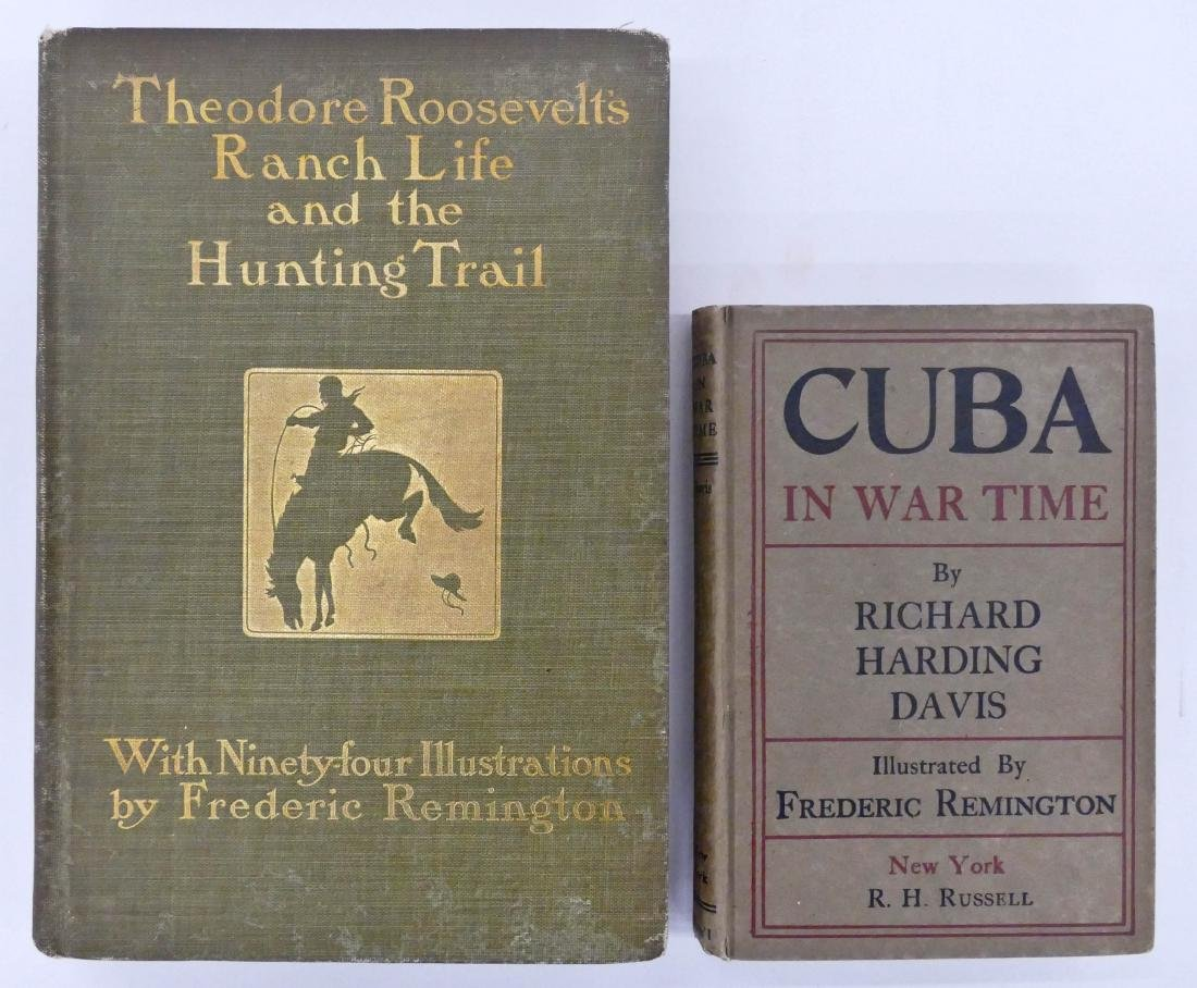 2pc Frederic Remington Illustrated Books. Includes