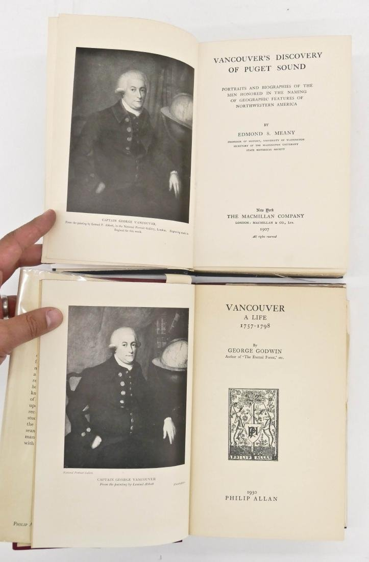 2pc Captain George Vancouver First Edition Books. - 3