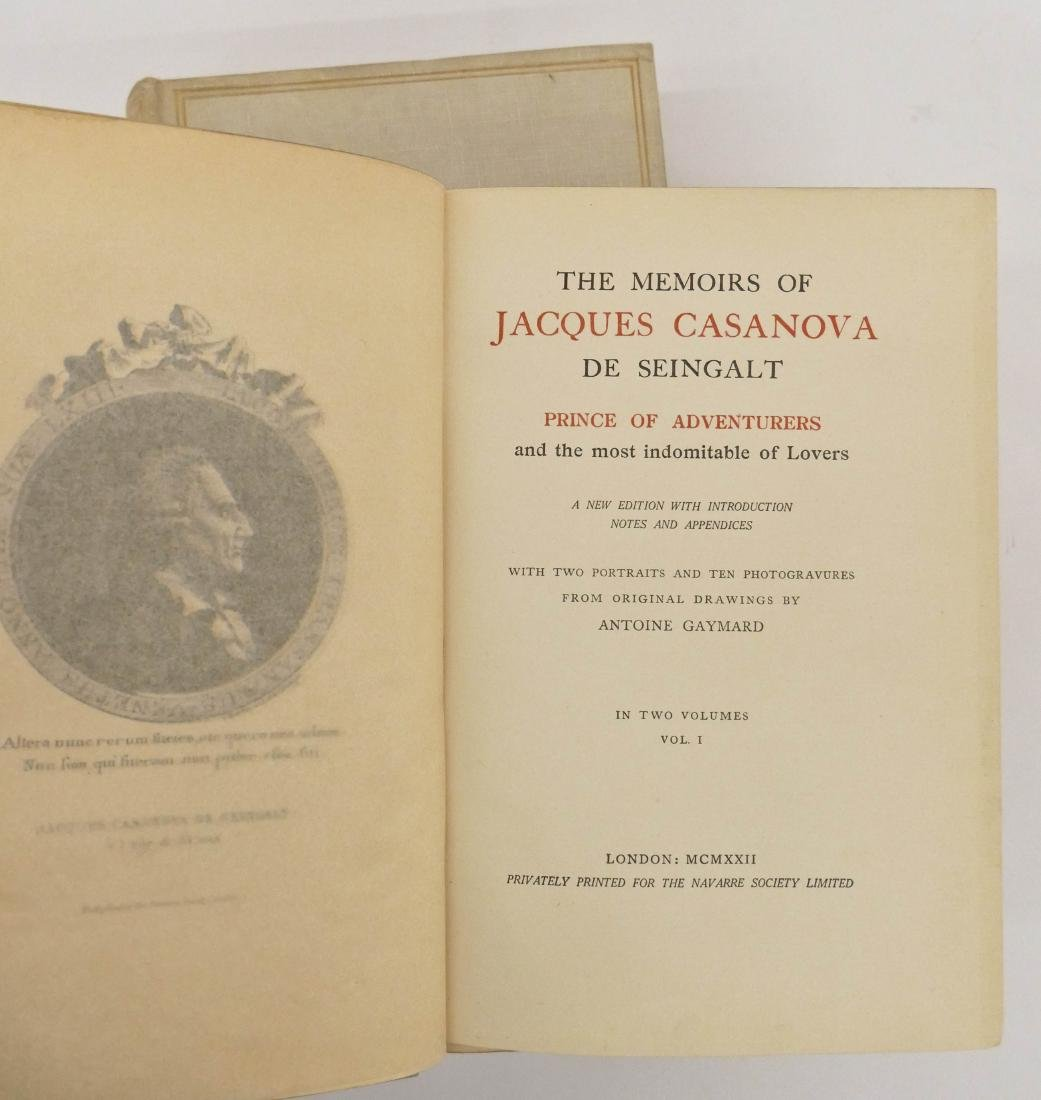 ''The Memoirs of Jacques Casanova de Seingalt'' 1922 - 2