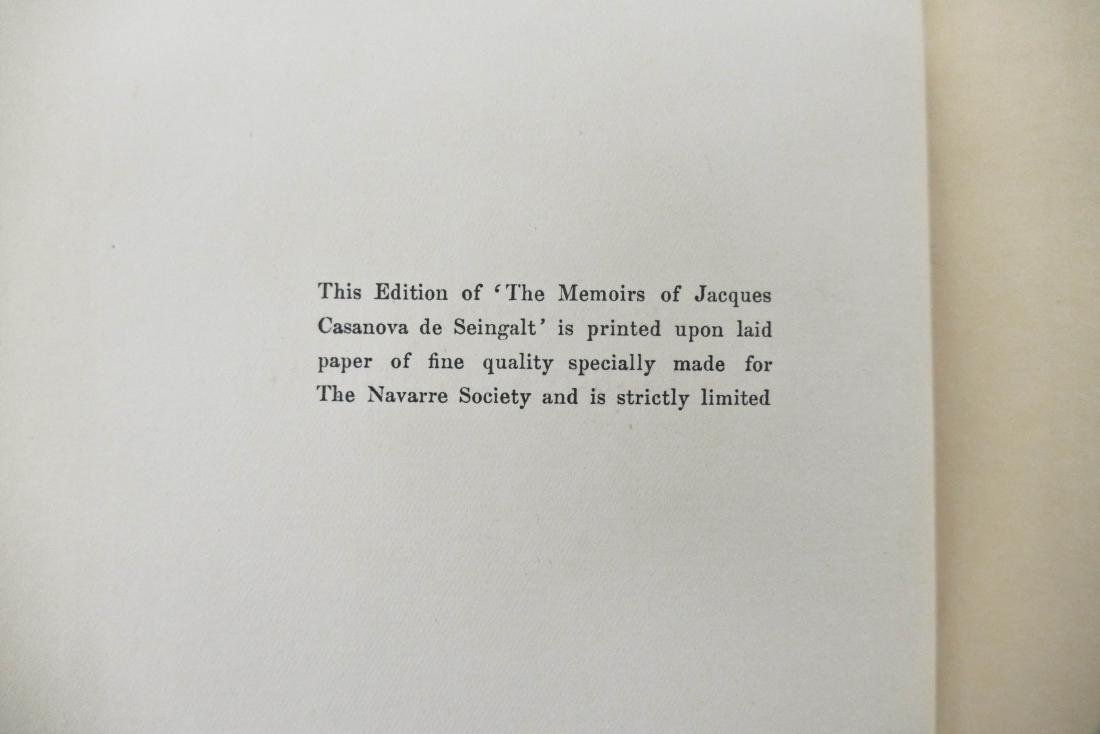 ''The Memoirs of Jacques Casanova de Seingalt'' 1922 - 3