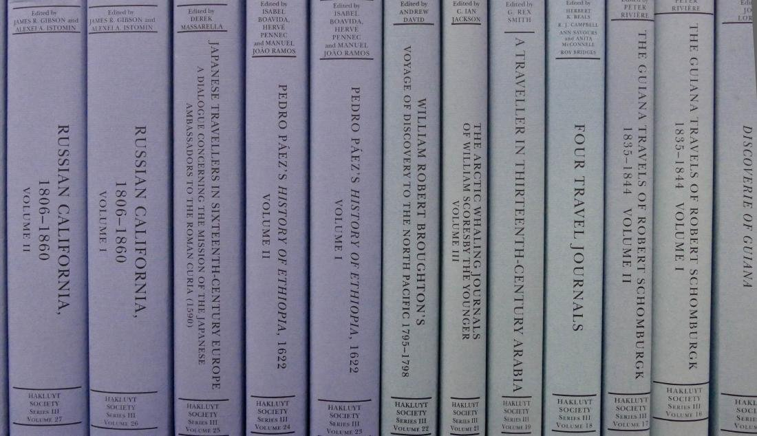 34 Volumes Hakluyt Society Series III Books. A near