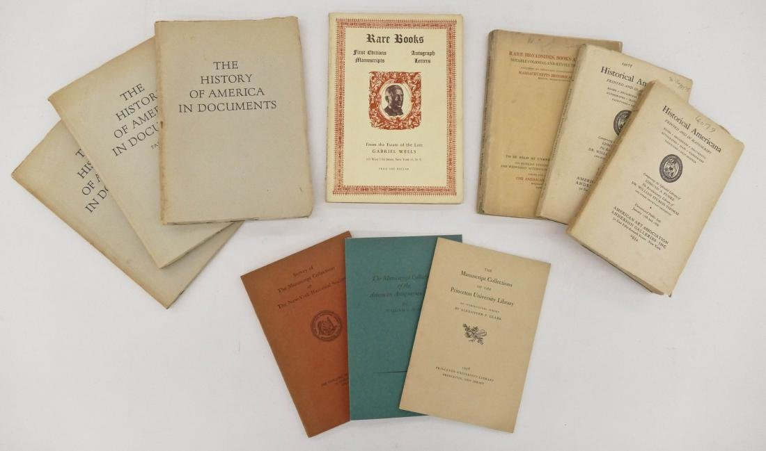 10pc Old Manuscript Collection Catalogs. Includes