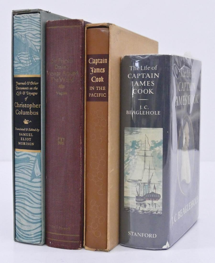 4pc Exploration First Edition Books. Includes Journals