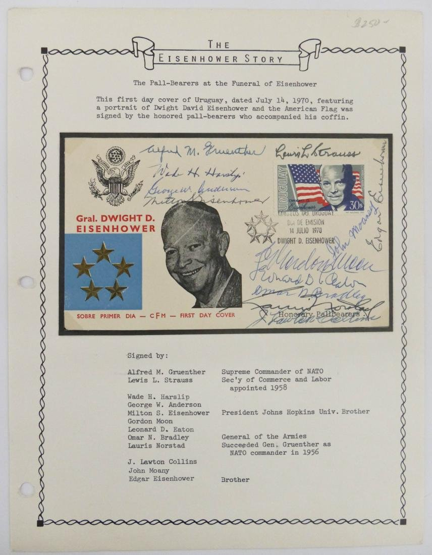 The Eisenhower Story 1970 Signed First Day Cover. This
