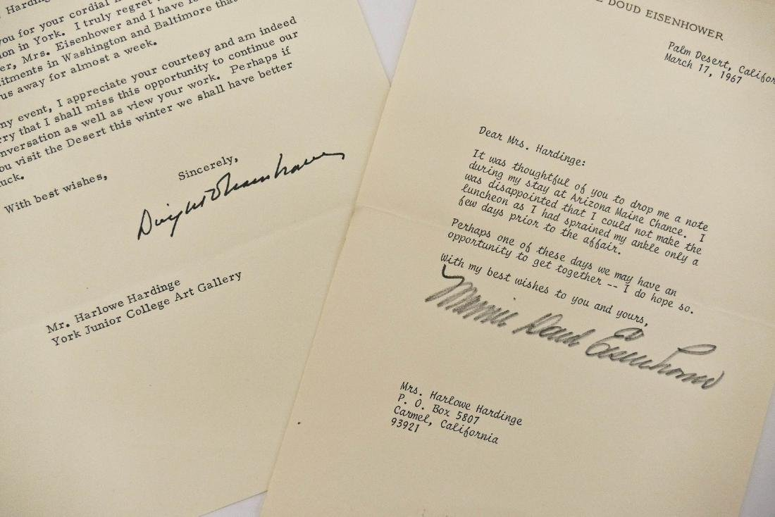 2pc Dwight & Mamie Eisenhower 1967 Signed Letters.