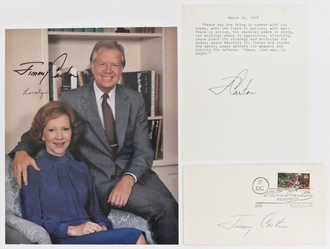 3pc Jimmy Carter Signed Photo & Cover. Includes an ink