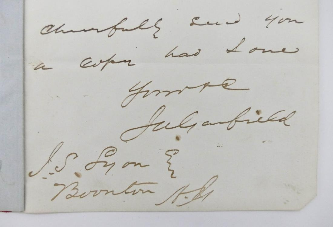 James Garfield 1867 Autographed Letter Signed 8''x5''.