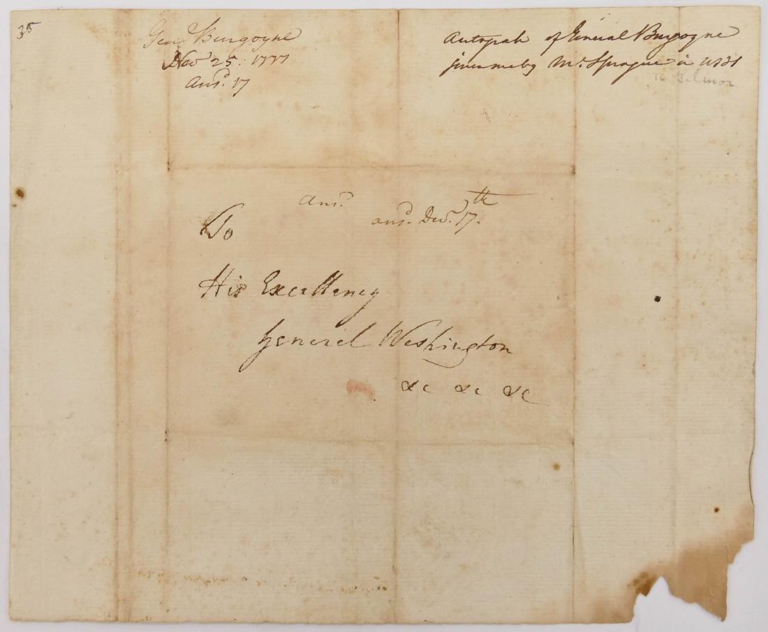 General John Burgoyne 1777 Autographed Document