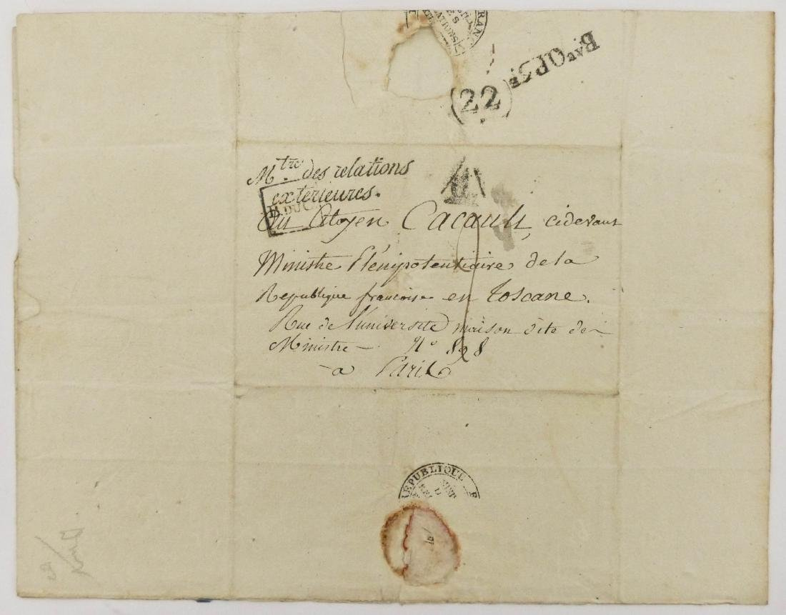 Charles Maruice de Tallyrand 1798 Autographed Letter - 2