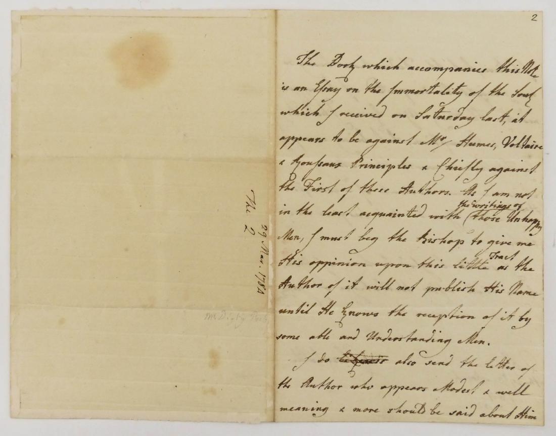 Charlotte Queen Consort of George III 1784 Autographed - 2