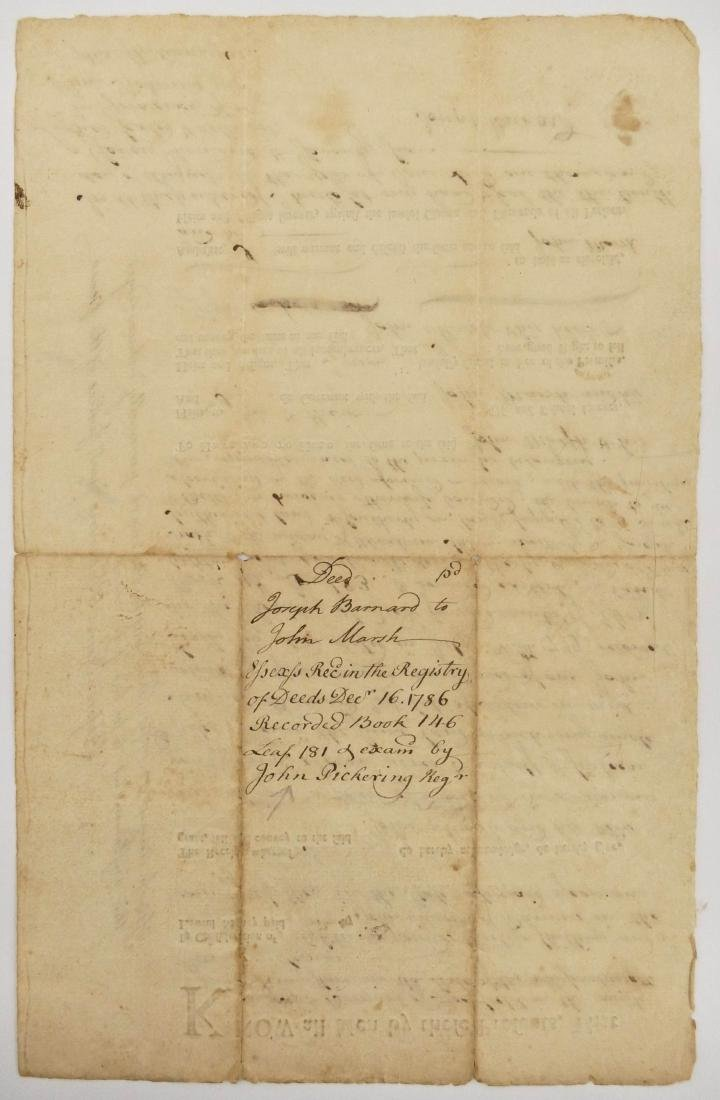 Massachusetts 1776 Land Indenture Document 13''x8.25''. - 2