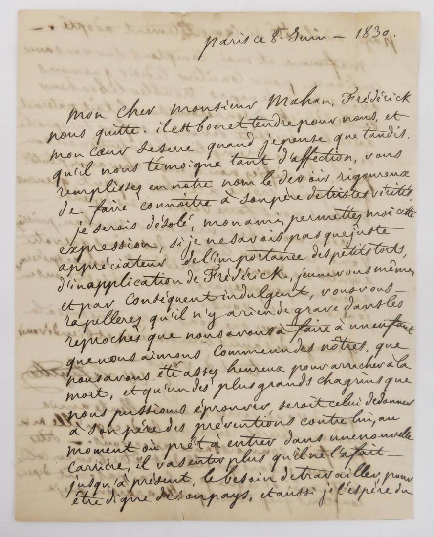 George Washington Lafayette 1830 Autographed Letter