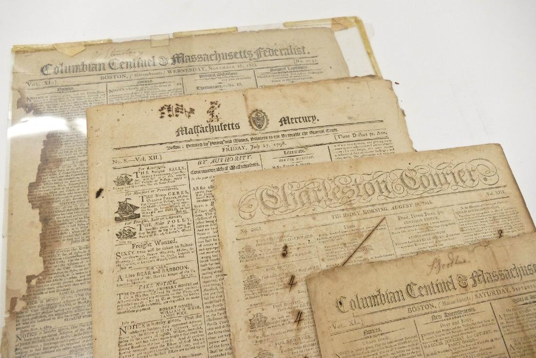 14pc Early American Newspapers. Includes Revolutionary
