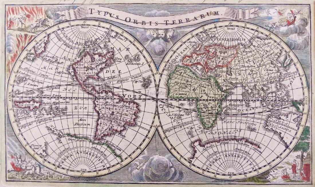 Charles Launay 1720 ''Typus Orbis Terrarum'' World Map