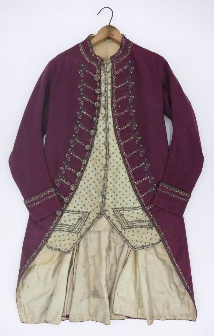 French 18th Cent. Gentleman's Waistcoat 43''x23''. A