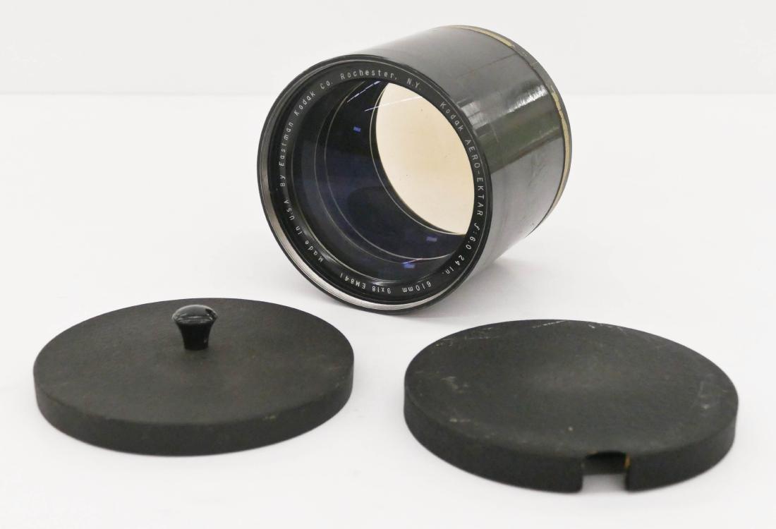 WWII Kodak Aero Ektar F6 610mm 9x18 Lens 5.5''x5''. A
