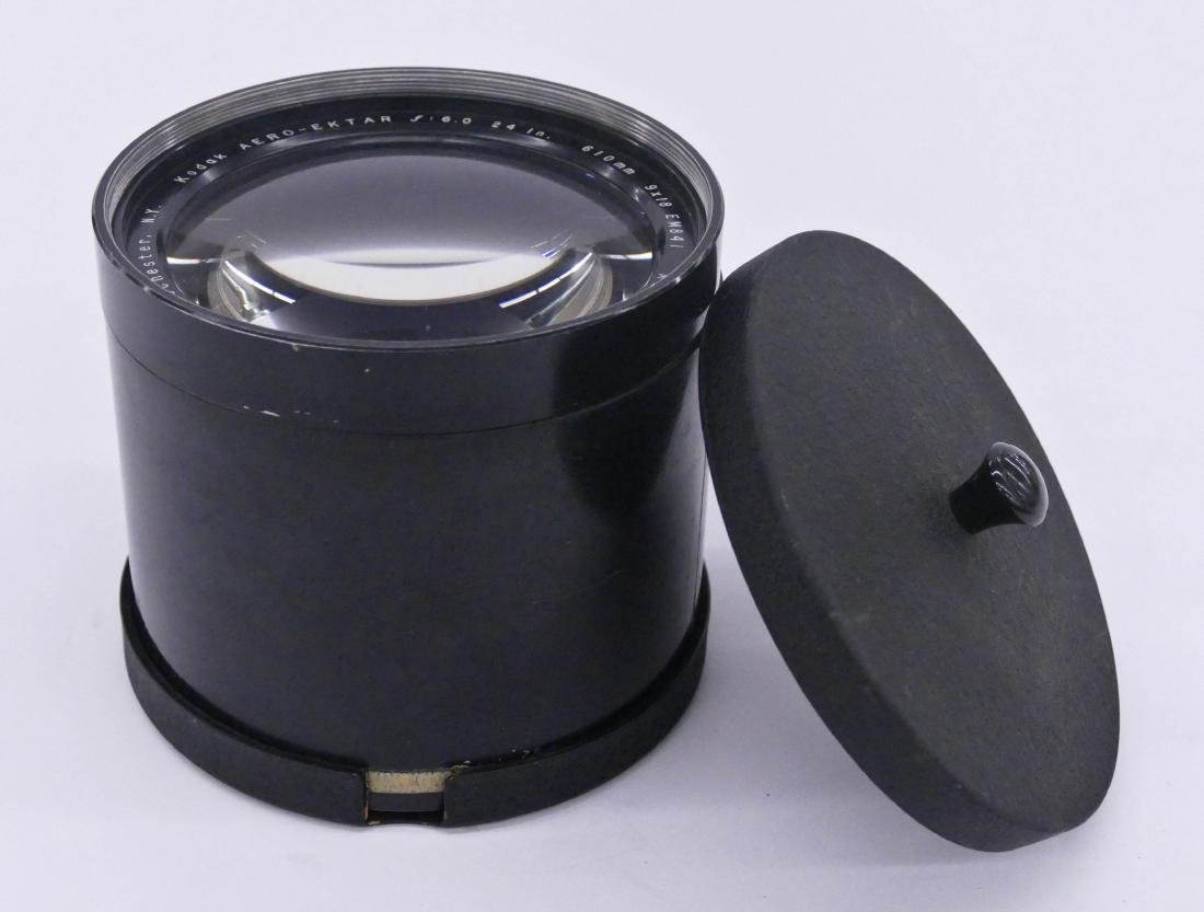 WWII Kodak Aero Ektar F6 610mm 9x18 Lens 5.5''x5''. A - 3