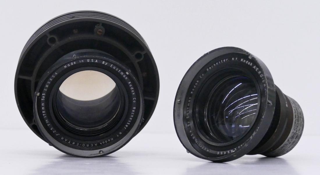 2pc WWII Kodak Aero Ektar F2.5 178mm Lenses. Two large